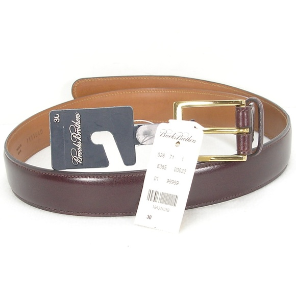 Brooks Brothers Other - NWT BROOKS BROTHERS BURGUNDY LEATHER BELT 30